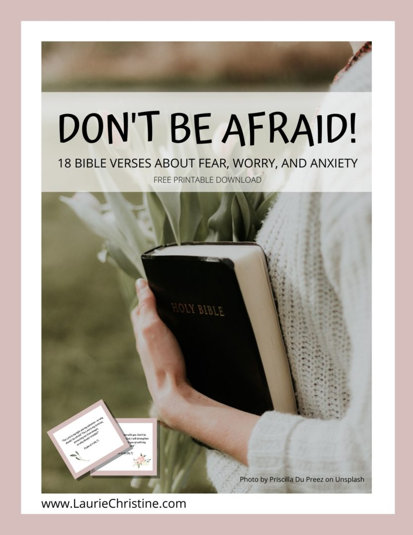 Laurie Christine, bible verses about fear, Laurie Christine