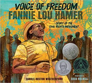 Voice of Freedom, Fannie lou hamer, children's books about diversity, racism and discrimination