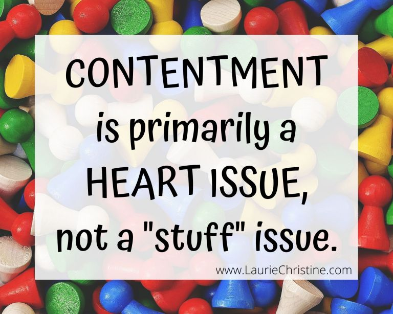 contentment is a heart issue