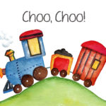 train, choo choo, nursery print, 8x10 print, download, boys room, baby boy