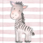 zebra, nursery print, baby animals, downloadable, 8x10, digital print