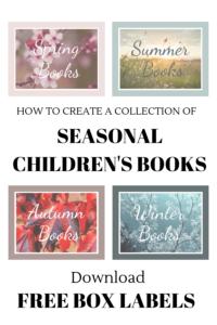 free box labels, seasonal children's books